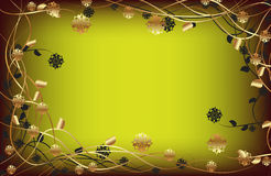 Flower Frame background Royalty Free Stock Photos