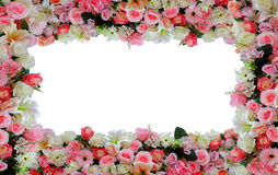 Flower frame background Stock Photos