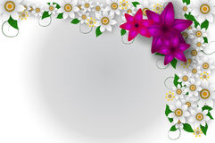 Flower frame background Stock Photography
