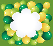 Flower frame with balloons Royalty Free Stock Images