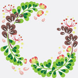 Flower frame. Beautiful floral frame, place for your text Stock Photography