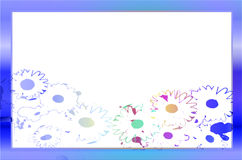 Flower of frame blank Stock Image