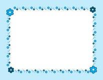 Flower frame blue Stock Images