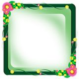 Flower frame border. Beautiful flower frame with space Stock Photos