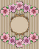 Flower frame. Bouquet of pink pastel azalea background Royalty Free Stock Images