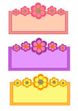 Flower Frame Collection stock photography