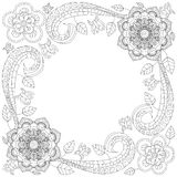 Flower frame coloring book vector illustration Royalty Free Stock Images