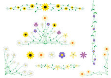 Flower frame decor Stock Image
