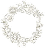Flower frame. Designed for invitations for the hol Royalty Free Stock Photo
