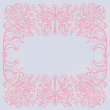Flower frame drawing Royalty Free Stock Images