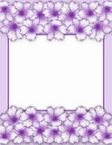 Flower frame. Floral border. Bouquet azalea flowers Royalty Free Stock Images