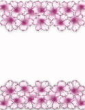 Flower frame. Floral border. Bouquet of pink azalea background. Royalty Free Stock Photo