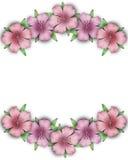Flower frame. Floral border. Bouquet of pink pastel azalea backg. Flower frame. Floral border. Bouquet of pink pastel azalea on white background vector illustration