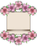 Flower frame. Floral border. Bouquet of pink pastel azalea with Royalty Free Stock Photography