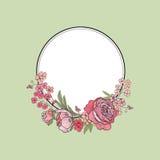 Flower frame. Floral border. flourish background. Stock Images