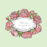 Flower frame. Floral border. flourish background. Stock Image