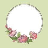 Flower frame. Floral border. flourish background. Stock Photography