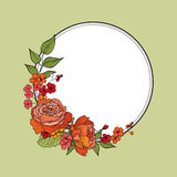 Flower frame. Floral border. Vintage flourish background in vict Royalty Free Stock Photos