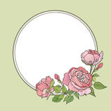 Flower frame. Floral border. Vintage flourish background in vict Royalty Free Stock Images