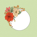 Flower frame. Floral vintage background in victorian style. Royalty Free Stock Image