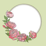 Flower frame. Floral vintage background stock illustration