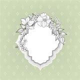 Flower frame. Floral vintage border. Flourish victorian style. Stock Photo