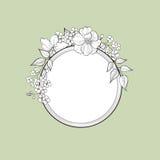 Flower frame. Floral vintage border. Flourish victorian style. Stock Images