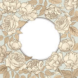 Flower frame. Floral vintage border. Flourish victorian style. Royalty Free Stock Photography