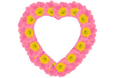 Flower frame in the form heart Royalty Free Stock Image