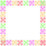 Flower frame of frame. On background Royalty Free Stock Photos