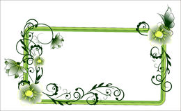Flower frame green Royalty Free Stock Photos