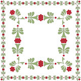 FLOWER FRAME GREEN RED Royalty Free Stock Photography