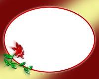 Flower Frame Letter Royalty Free Stock Images