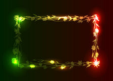 Flower frame with lights effects Royalty Free Stock Image
