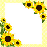 Flower frame with Sunflowers Royalty Free Stock Photo