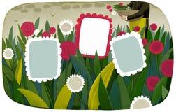 Flower frame template Stock Images