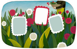 Flower frame template Royalty Free Stock Photo