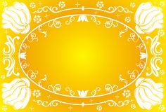 Flower frame, vector Royalty Free Stock Images