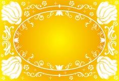 Flower frame, vector. Illustration Royalty Free Stock Images