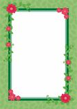 Flower Frame Vector. Frame design with flower and floral decoration Stock Photos