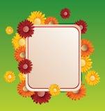Flower frame vector illustration. Bright flower frame vector illustration vector illustration