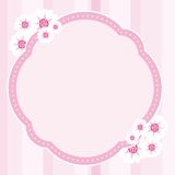 Flower Frame Vector. Pink frame with flower decoration Royalty Free Stock Photos