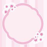 Flower Frame Vector. Pink frame with flower decoration Royalty Free Illustration
