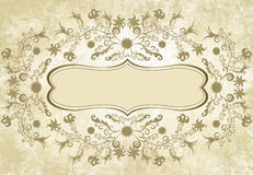Flower frame in vintage style Royalty Free Stock Image