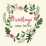 Flower frame in vintage style royalty free illustration