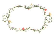 Flower frame royalty free illustration