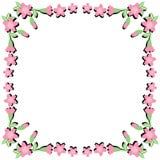 Flower frame on white background Stock Photography