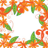Flower frame white background Stock Photography