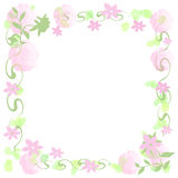 Flower Framed Note Paper Stock Photography