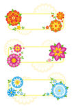 Flower frames. Set of 3 flower frames. EPS8 Stock Photography